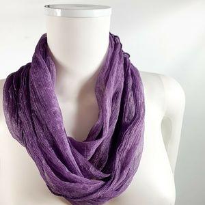 Noelle Sheer Infinity Scarves Lot of 2 Purple Blue